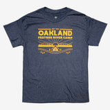 t-shirt-oakland feather river camp-oaklandish-heather navy-cotton