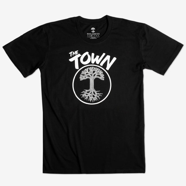 T-Shirt - Oaklandish Roots Logo & The Town, Black Cotton