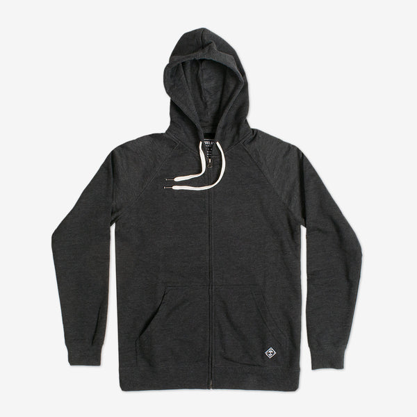 Woven Label Heather Zip Hoody