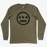 long sleeve t-shirt - hiero hip hop logo - army green cotton