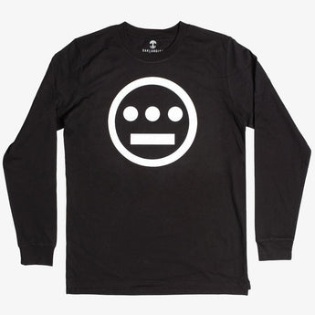 long sleeve t-shirt - hiero hip hop logo - black cotton