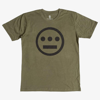 t-shirt - hiero hip hop logo - army green cotton