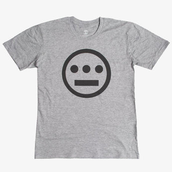 t-shirt - hiero hip hop logo - athletic grey cotton