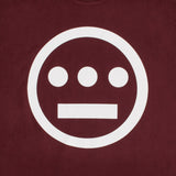 t-shirt - hiero hip hop logo - burgundy cotton - classic cut