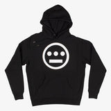 pullover hoodie - hiero logo - heavyweight black cotton