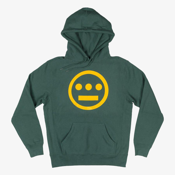 Hoodie - Hiero Classic Logo, Heavyweight Fleece, Alpine Green