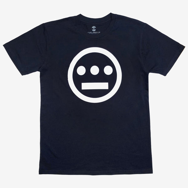 t-shirt - hiero hip hop logo - navy cotton