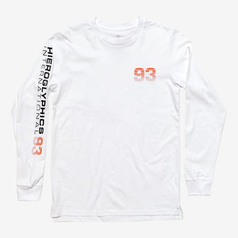Hiero Worldwide Long-Sleeve Tee - White, 100% Cotton