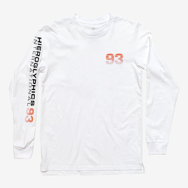 Long-Sleeve Tee - Hiero Worldwide, White, 100% Cotton