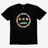 Hiero Tee - Worldwide Logo, Black Cotton