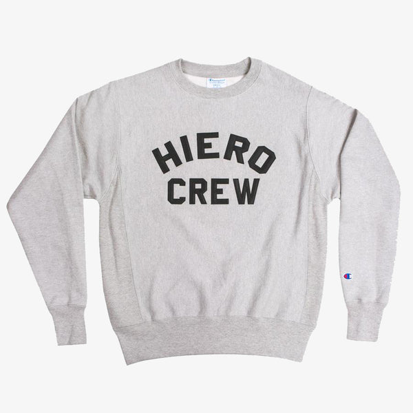 Crew Sweatshirt- Champion Hiero Heavyweight Fleece Grey