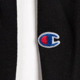 champion hooded sweatshirt - hiero crew - heavyweight fleece - black