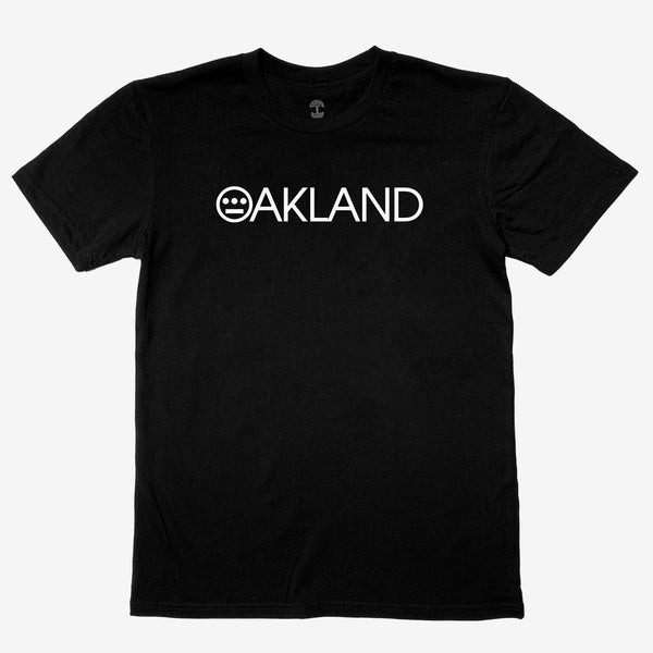 T-Shirt - Hieroland Oakland Logo, 100% Cotton Black