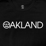 Tee - Hieroland Oakland Logo, 100% Cotton Black