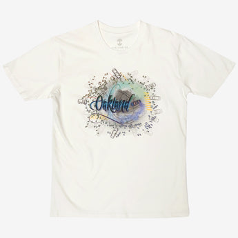 Tee -  Designed by Agana, Oakland Graffiti Artist, Natural