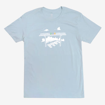 T-Shirt - Fairyland Jolly Trolly, Pale Blue Cotton