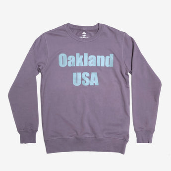 Crew Sweatshirt - Oakland USA by DopeOnly, Mauve