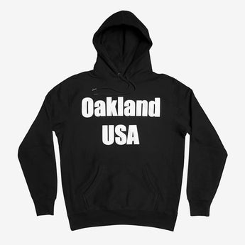 Hoodie - Oakland USA by DopeOnly, Heavyweight Fleece, Black