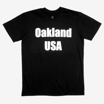 T- Shirt - Oakland USA by DopeOnly, Black Cotton