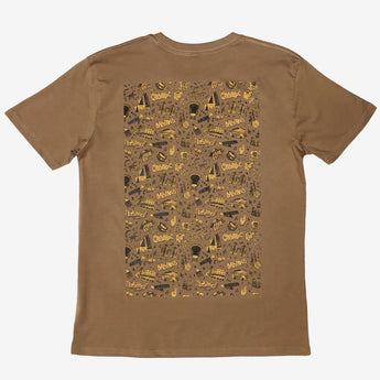 OakTown-ish Tee By Agana Graffiti Artist - Camel Brown, Cotton