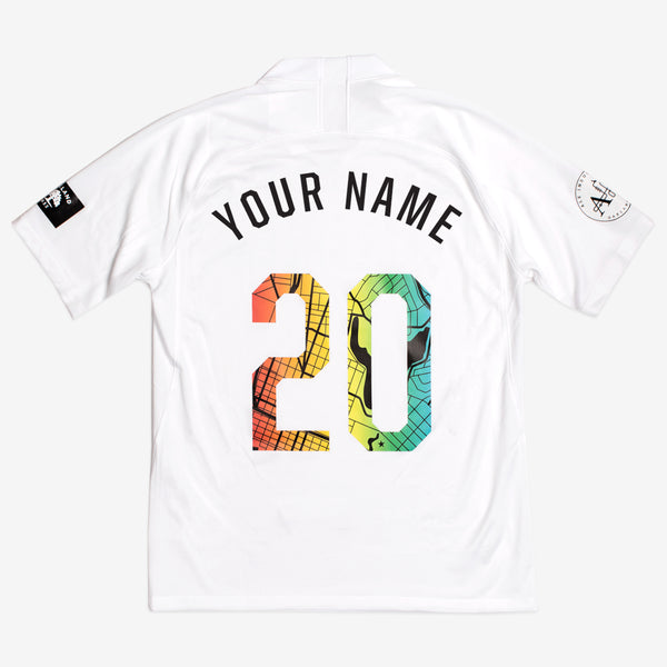 2020 Roots SC Nike White Custom Jersey