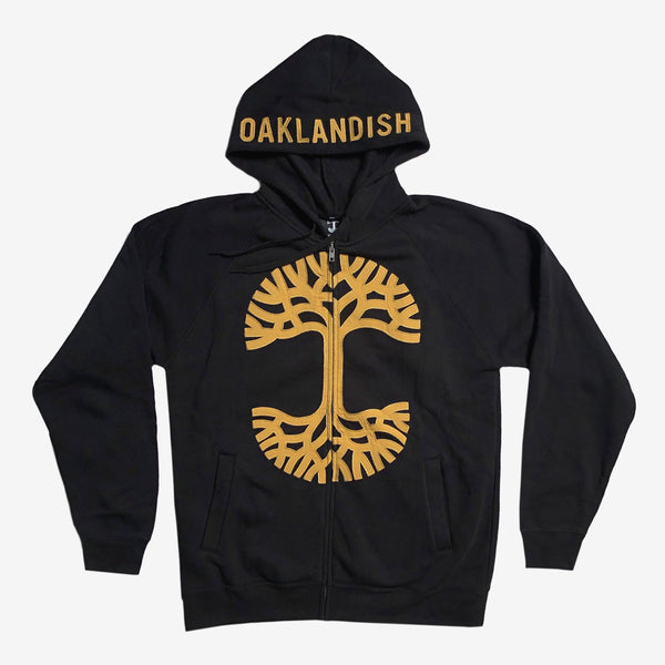 hoodie - clothing - outerwear-black mustard - zip - oaklandish