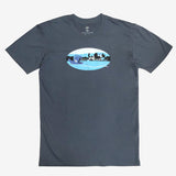 t-shirt-cotton-unisex classic fit-petrol blue-willie the whale oakland fairyland theme park