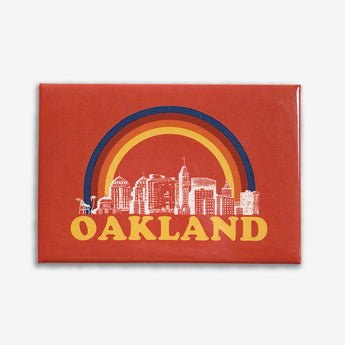 Somewhere Rainbow Oakland Refrigerator Magnet