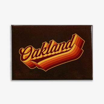 Swash Oakland Seventies-Style Refrigerator Magnet