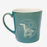 Oakland Bay Sunrise Ceramic Mug - Teal 16 oz