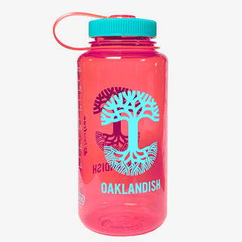 Oaklandish 32 oz Durable Nalgene Bottle - Coral Pink