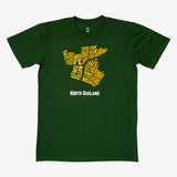 Neighborhood Tee - North Oakland, Forest Green Cotton