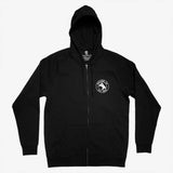 Zip Hoodie - Oakland Neighborhood Map, Black Cotton