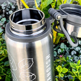 Thermal Water Bottle - 25 oz Double Walled Stainless Steel