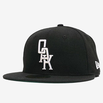 New Era Cap  - 59FIFTY, Fitted, Embroidered OAK Logo, Black & White
