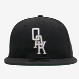 Cap  - New Era 59Fifty, Embroidered OAK logo, Black & White