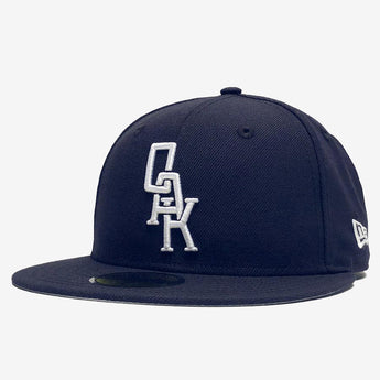 New Era Cap - 59FIFTY Fitted, Embroidered OAK Logo, Navy & White