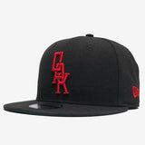 New Era Cap - 9FIFTY, Snapback, Embroidered OAK Logo, Black & Red
