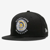 Cap - New Era, Embroidered Warriors Patch, Black Snapback