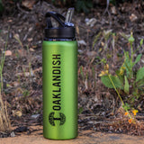 Aluminum Water Bottle - Flip Spout Oaklandish Logo Green