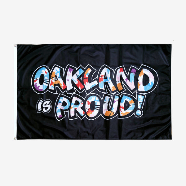 flag - oakland is proud - del phresh graffiti design -oaklandish