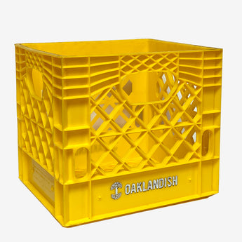 Milk Crate - Oaklandish Foil Stamped Logo, Yellow