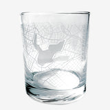 Aerial Map of Oakland Whiskey Tumbler - 14 oz Clear Glass