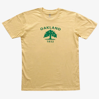 Oakland Flag Tee | Mustard Cotton