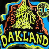 Tee - Oakland Graphic Tee, Tribune Building, Black Cotton