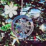 christmas tree ornament - Oakland - Sterling Silver Snowflake