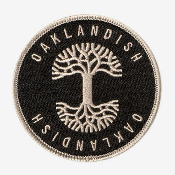 Oaklandish Circle Iron-On Patch - Black & Silver