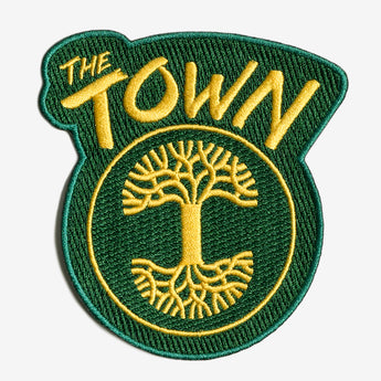 Forever The Town Embroidered Iron-On Patch - Green & Cold