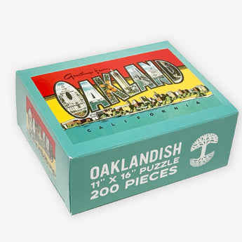 jigsaw puzzle - greetings from oakland vintage postcard image - 200 pieces - oaklandish