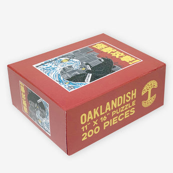 Kaiju Monster Attacking Oakland Jigsaw Puzzle - 200 Pieces